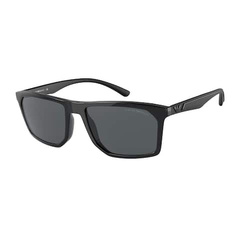 Emporio Armani EA4164 501787 57 Black Man Irregular Sunglasses