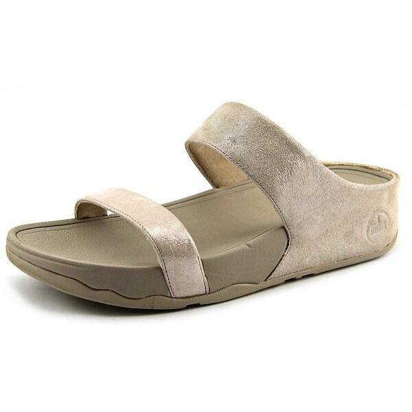 FitFlop Lulu Open Toe Suede Slides Sandal