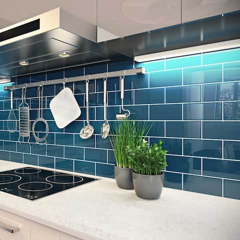 Dark Teal 3x6 Subway Tile