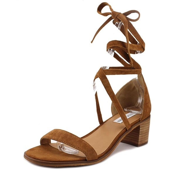 Steve Madden Rizza Women  Open Toe Suede Brown Sandals
