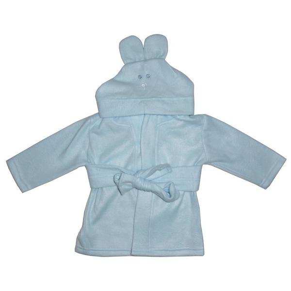 Bambini Baby Boys Blue Pastel Rabbit Ears Hoodie Fleece Robe 0-12M - 0-12 months