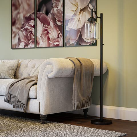 Carbon Loft Bronze Mangano Floor Lamp