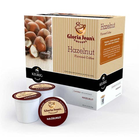 Gloria Jean's Coffees Hazelnut, 1 Serve Coffee K-Cup Pod, Flavored Coffee, 18