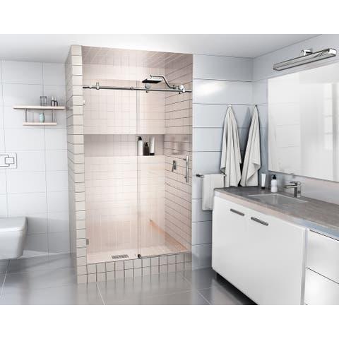Glass Warehouse 48 in. - 52 in. x 78 in. Frameless Sliding Shower Door