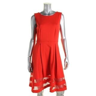 Calvin Klein Womens Casual Dress Sleeveless Box Pleat - 14