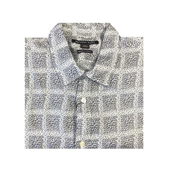 c51edc33 Shop Michael Kors Men's Abstract Windowpane Storm Shirt Size Extra Large -  Grey - XL - Free Shipping On Orders Over $45 - Overstock - 20966405