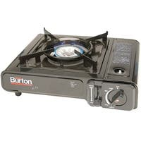 Max Burton 8253 Single Burner Camping Stove, Black