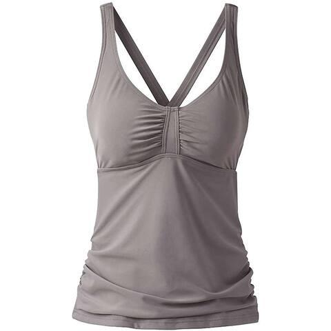 prAna Women's Aelyn D-Cup Tankini Top, Moonrock, 32D/X-Small