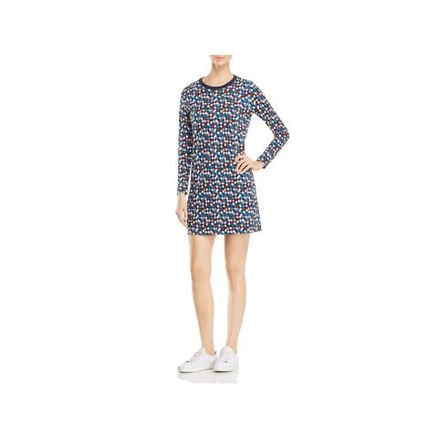 Tory Burch Womens Maggie Sweatshirt Dress Long Sleeves Above Knee Mini