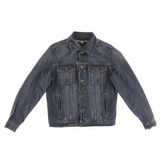 Tommy Hilfiger Mens Cotton Long Sleeves Denim Jacket - M