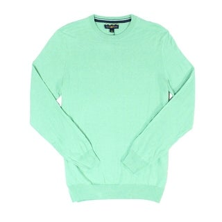 Club Room NEW Neptune Green Mens Size XL Heather Crewneck Silk Sweater