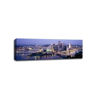 Pittsburgh - Cityscapes - 48x16 Gallery Wrapped Canvas Wall Art