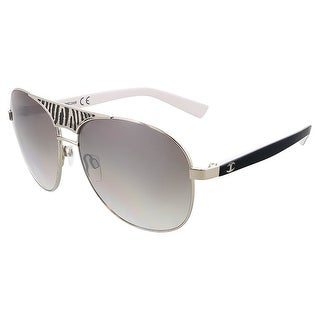 Just Cavalli JC 509 20B Silver Aviator Sunglasses - 58-14-130