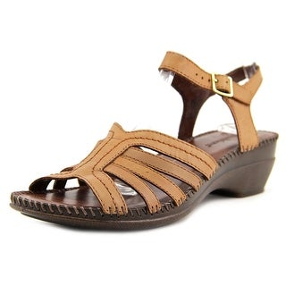 Auditions Rumba Women  Open Toe Leather Brown Sandals