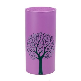 Kitchen Plastic Tree Pattern Cook Chopper Cutter Storage Holder Purple Black