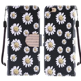 Insten Black/ White Daisy Blossom Hard Snap-on Rubberized Matte Case Cover For Samsung Galaxy S7