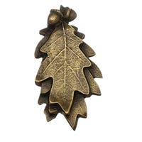 Door Knocker Antique Brass Oak Leaf 6H x 3W | Renovator's Supply