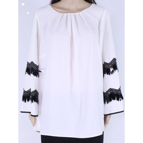 Alfani Women's Blouse Plus Pleated Embellished