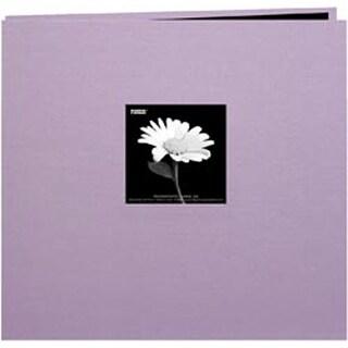 "Misty Lilac - Book Cloth Cover Post Bound Album 8""X8"""