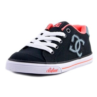 DC Shoes Chelsea TX Youth Round Toe Canvas Black Skate Shoe