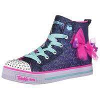 Skechers Kids' Twinkle Liteb-Busy Bows Sneaker - Navy/Hot Pink