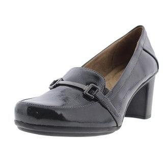 Naturalizer Womens Quasha Patent Round Toe Loafer Heels