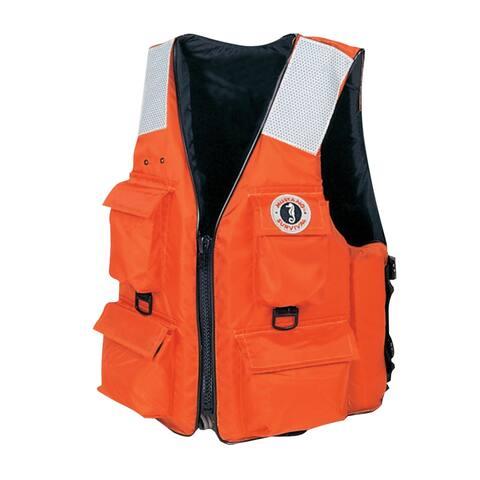 Mustang four pocket vest w/ solas tape xxl orange