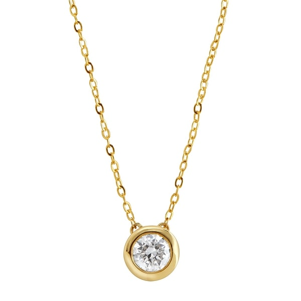 1/2 ct Diamond Solitaire Necklace in 14K Gold