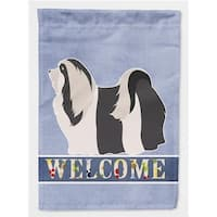 Carolines Treasures BB8314CHF Havanese Welcome Flag Canvas House Size