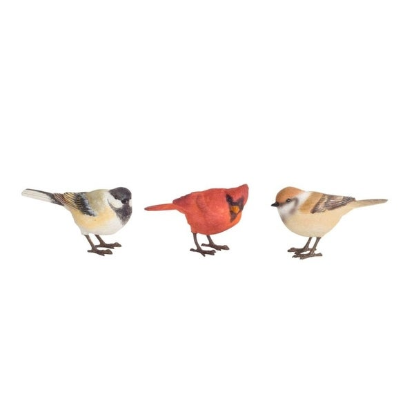 """Club Pack of 12 Colorful Bird Table Top Decorations 4"""" - brown"""