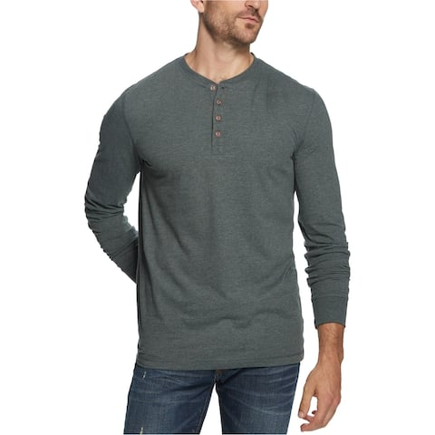 Weatherproof Mens Brushed Jersey Henley Shirt
