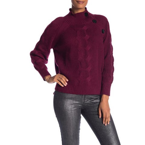 Laundry By Shelli Segal Mock Neck Cable Sleeve Sweater, Sonoma, Medium