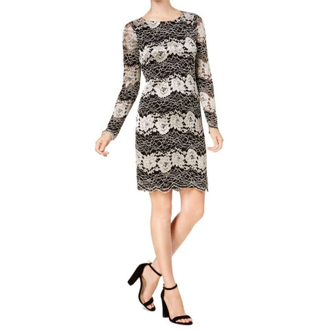 Jessica Howard Black Women's Size 6 Howard Lace Sheath Dress