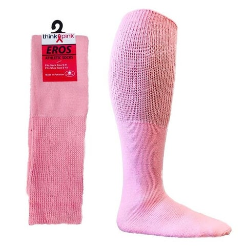 DDI 1931559 Pink Football BCA Socks Size 9-11 Case of 24