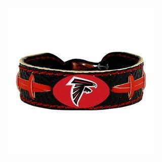 Atlanta Falcons Team Color NFL Gamewear Leather Football Bracelet