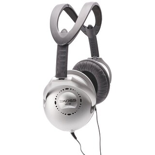 Koss UR18 Collapsible Home Headphones Silver Finish with 3.5mm Jack