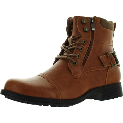 Arider Bull-01 Men's Ankle Combat Army Low-Top Causal Boots- Tan