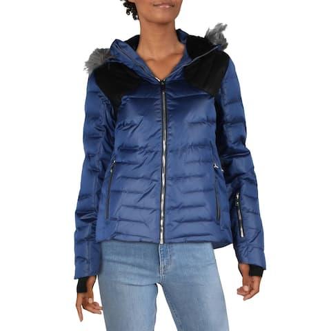 Spyder Womens Falline Puffer Coat Faux Fur Insulated - 8