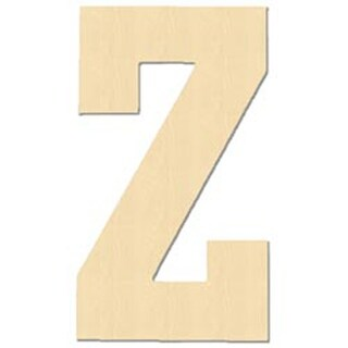 Z - Baltic Birch University Font Letters & Numbers 5""