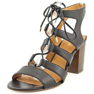 Coach Larissa Women  Open Toe Leather Black Sandals
