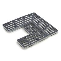 Joseph Joseph SinkSaver Adjustable Sink Protector Mat Two Grid Sections Fits Different Drain Positions Non-Slip, Grey