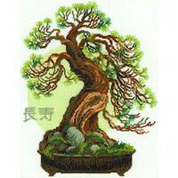 "Bonsai Pine Wish Of Longevity Counted Cross Stitch Kit-13.75""X17.75"" 14 Count"
