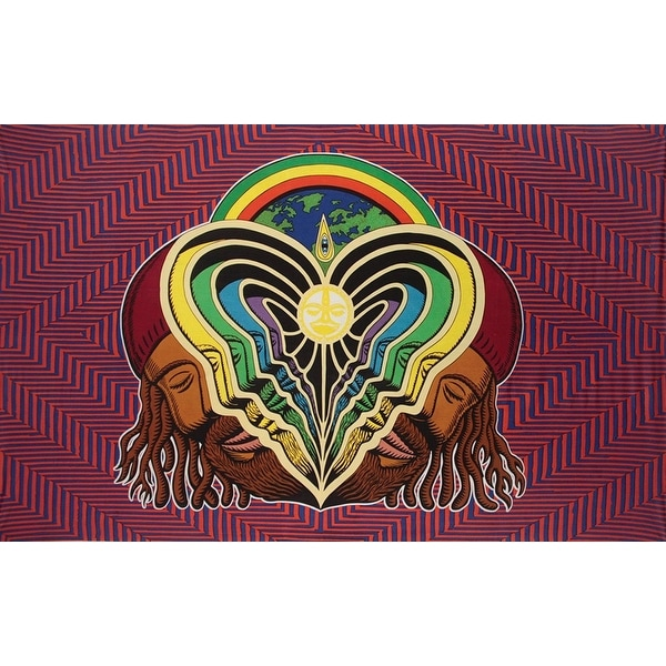 Handmade Cotton Peeling Bodies Metaphysical Trippy Tablecloth Tapestry Beach Sheet Wall Art 30x45