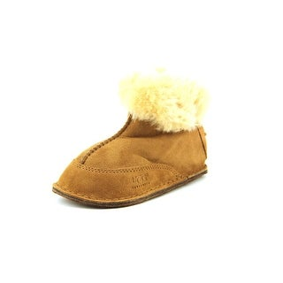 Ugg Australia I Boo Toddler Round Toe Suede Tan Winter Boot