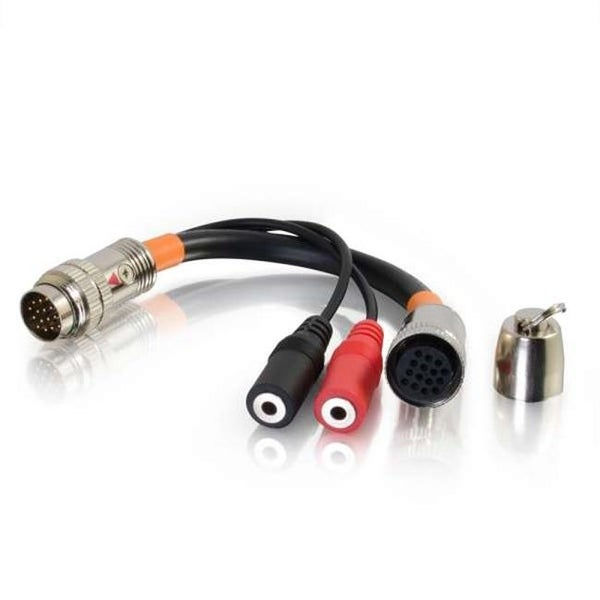 6 in. RapidRun Dual 3.5mm Audio Breakout Adapter Cable - Display