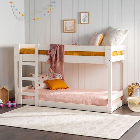 Carson Carrington Modern Junior Twin Over Twin Bunk Bed