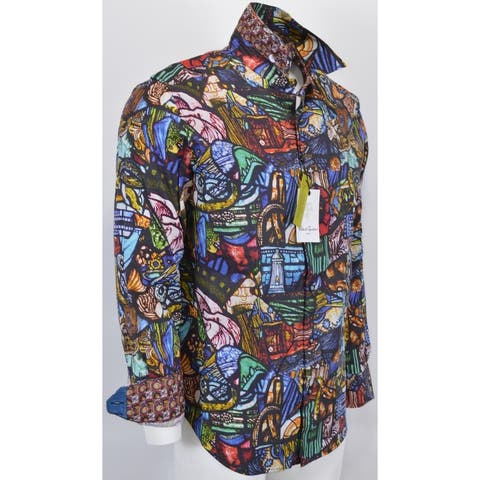 Robert Graham THE BASILICA Stained Glass Theme Shirt