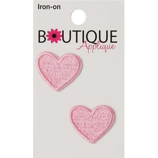 Pink Hearts 2/Pkg - Iron-On Appliques