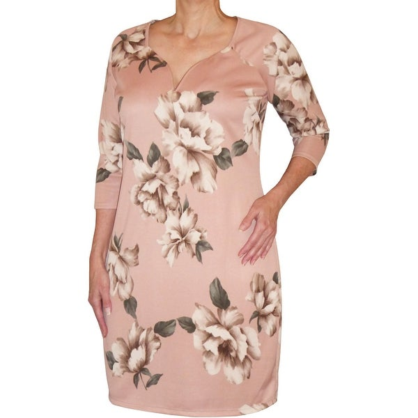 Funfash Plus Size Clothing Pink New Slimming Womens Cocktail Dress Made in USA