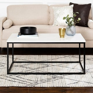Carbon Loft Geller Metal Frame Coffee Table - 42 x 24 x 18h